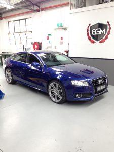 Audi Blue Car