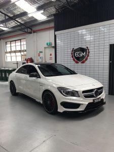White Mercedes-Benz A Class