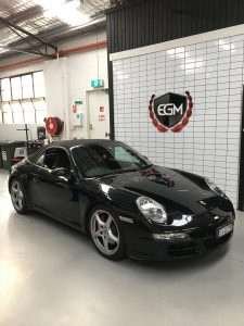 Black Porsche Carrera