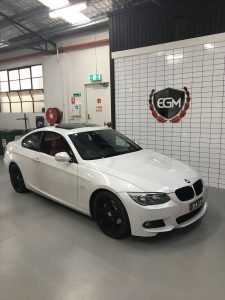 BMW White Sports Car